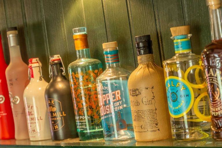 Large selection of gins